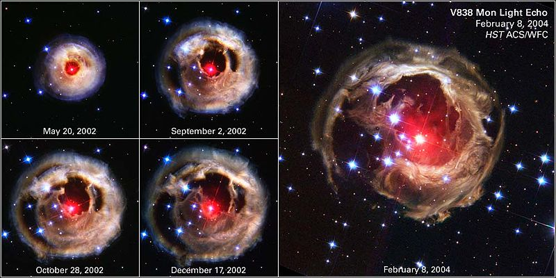 V838 Monocerotis - expansion