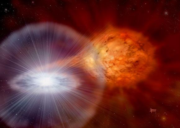 SS Cygni - binary star - Garlick