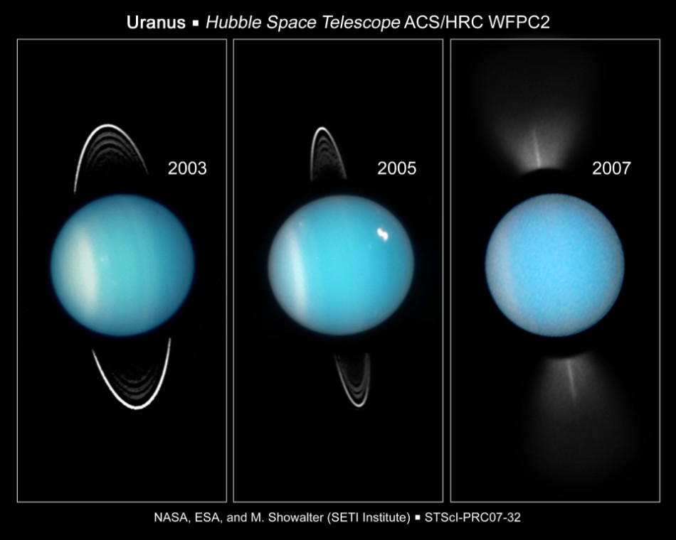 Uranus and its rings - HST