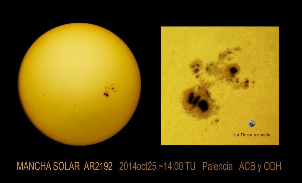 Big Sunspot AR2192