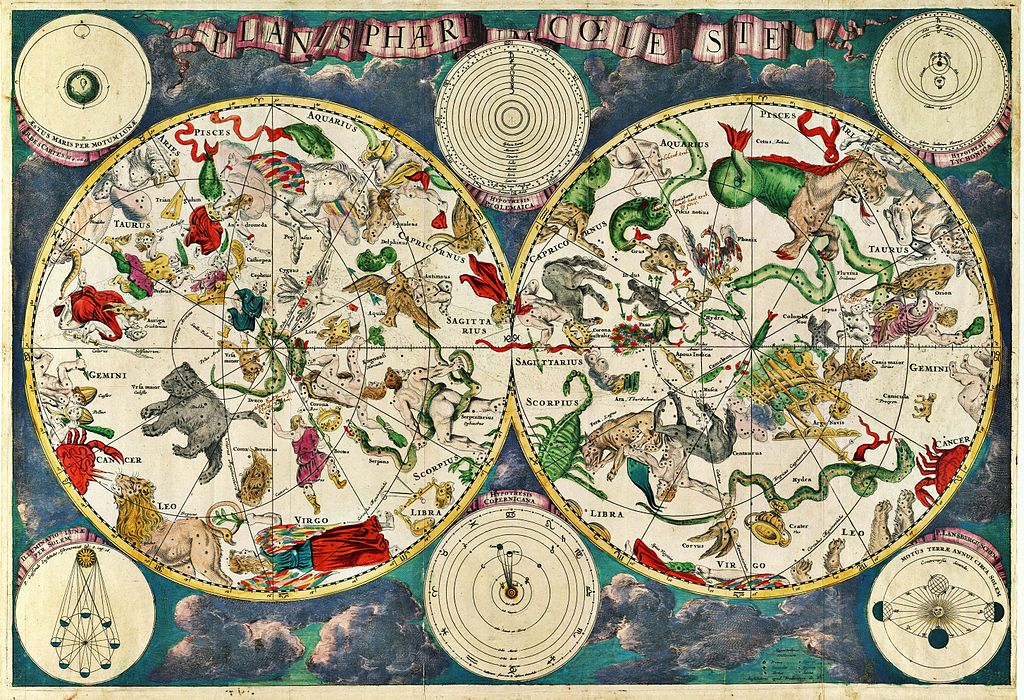 Celestial map - 17th century - Frederik de Wit - WIKI