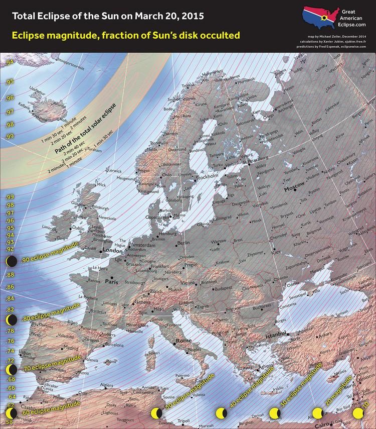Partial Solar eclipse - 20 Mar 2015 -  Europe - Zeiler