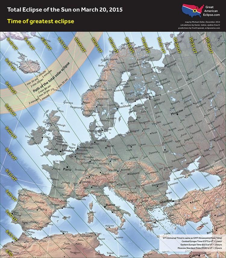 Partial Solar eclipse - 20 Mar 2015 -  Maximun Europe - Zeiler