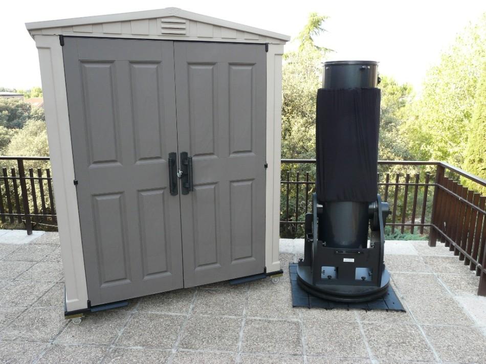 caseta de protección telescopio