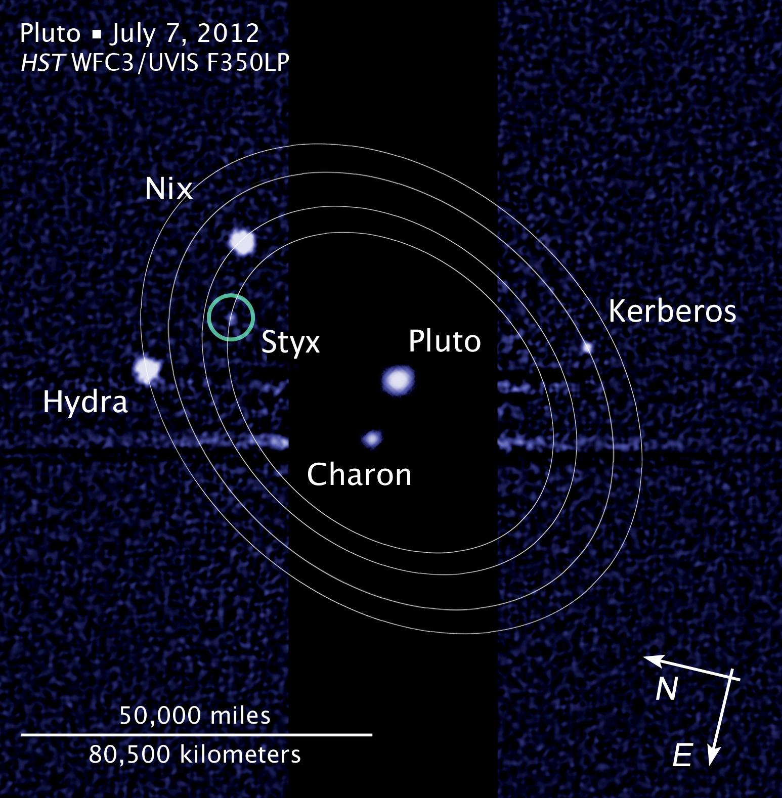 Pluto moon P5M - HST