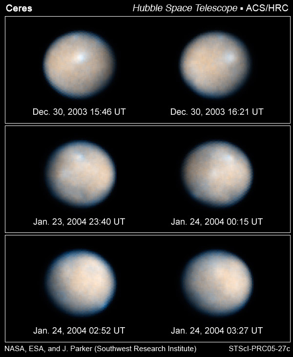 Pluton - 6 - Ceres - HST