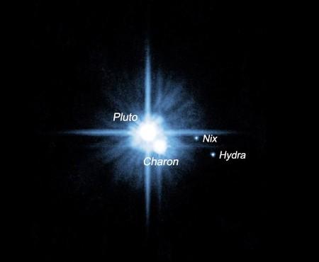 Pluton - 9 - sus satelites - HST