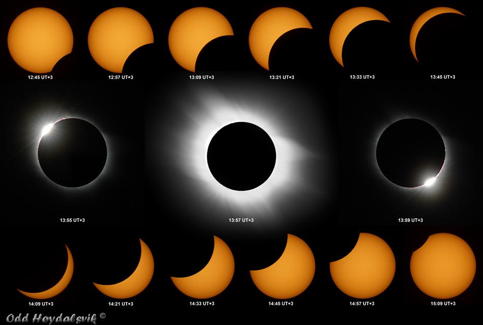 Sun eclipse - Turkey 2006 - Montage - Odd  Hoydalgvik