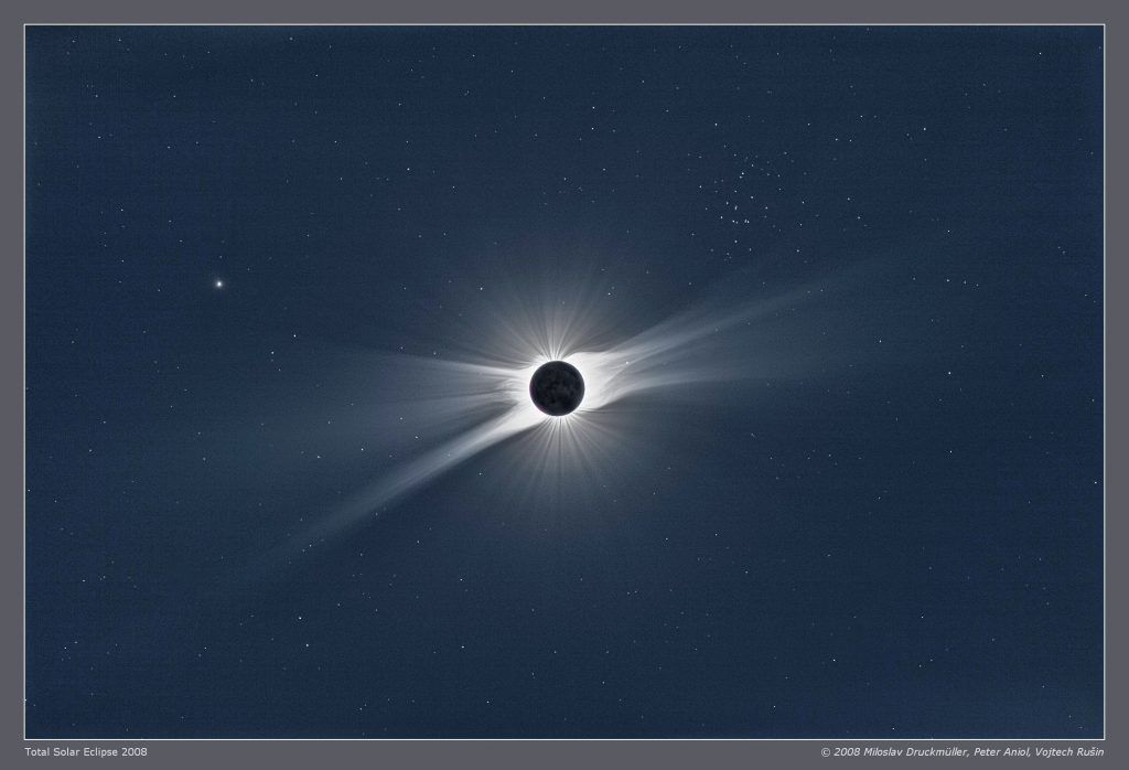 Sun eclipse and M 44 - Aug 1 08 - APOD Sep 20 08