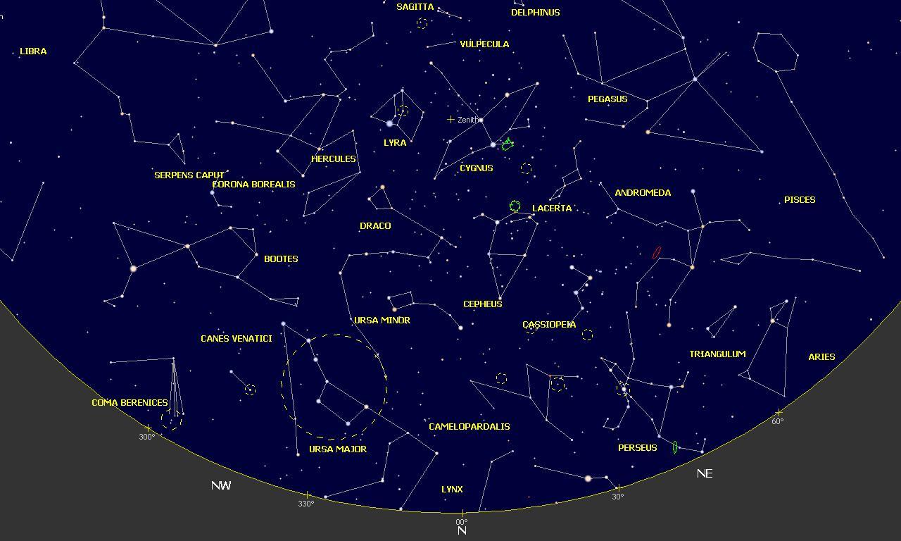 Mapa Estelar Hemisferio Norte.Mapas Celestes Junio 2019