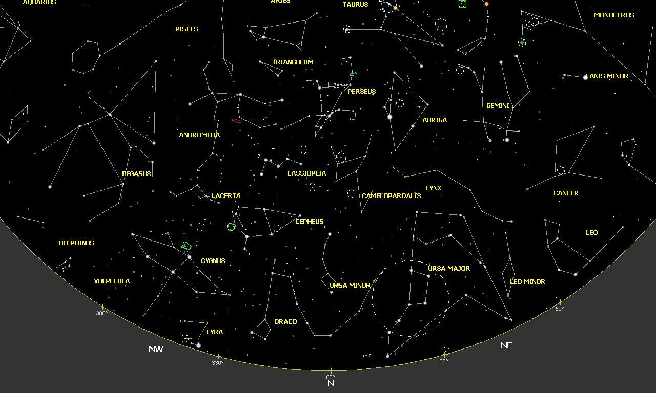 Mapa Del Cielo Nocturno Hoy.Mapas Celestes Enero 2020